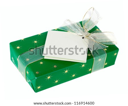 Gift box, isolated on a white background