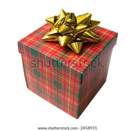 Gift box. Isolated on white.
