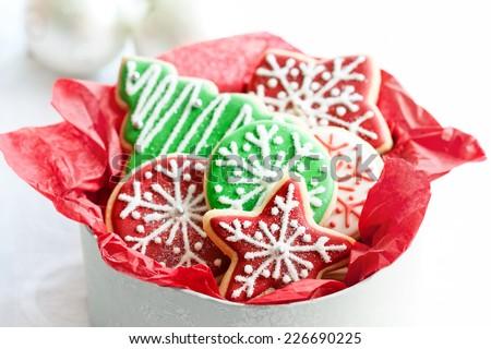 Gift box of Christmas cookies
