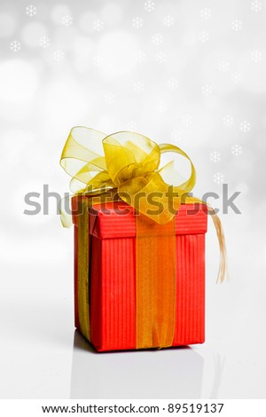 gift box on christmas background