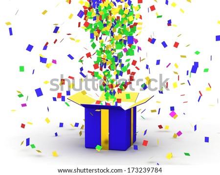 Gift Box with Confetti #173239784