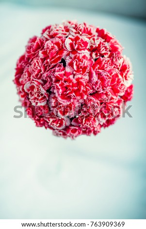 Gift box with flowers on white background #763909369