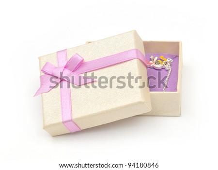 gift box with jewelery