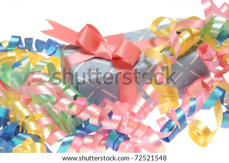 Gift Box with Pink Ribbon Bow.