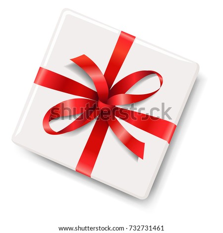 Gift Box With Red Bow