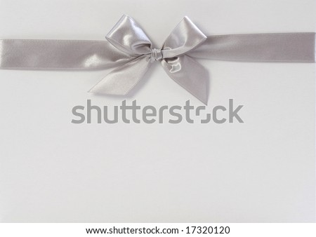 gift box with silver ribbon