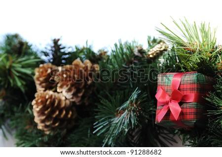 Gift box X'mas ornament decoration