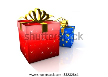 stock photo gift boxes 3d isolated illustration wedding christmas