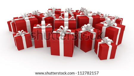 Gift Boxes - Isolated on White Background