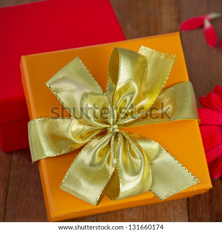gift boxes with flower