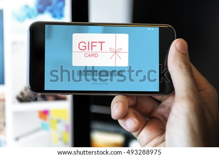 Gift Card Coupon Certificate Shopping Concept