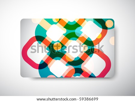 Gift Card front and back - size 3 3/8 x 2 1/8  (86 x 54 mm)