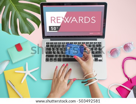 Gift Card Voucher Coupon Graphic Concept
