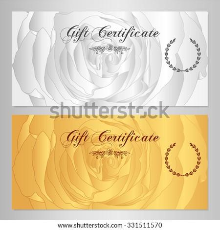 Gift Certificate Voucher Coupon Reward Floral Card Template – Voucher Card Template