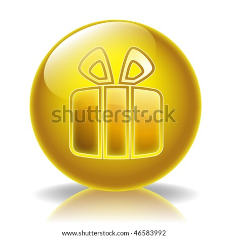 Gift glossy icon #46583992