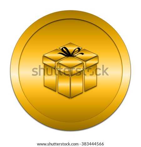Gift icon. Internet button on white background. 
