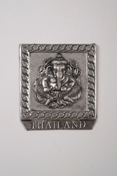 Gift Magnet from Thailand isolated on white background