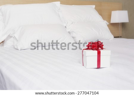 Gift on bed