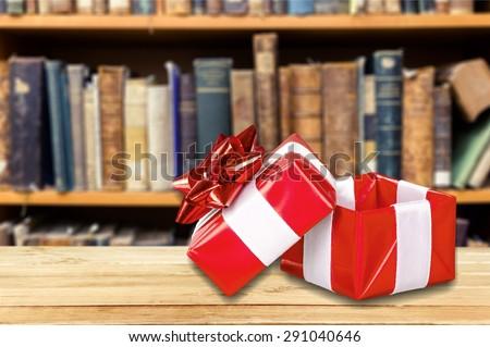 Gift, Open, Box.