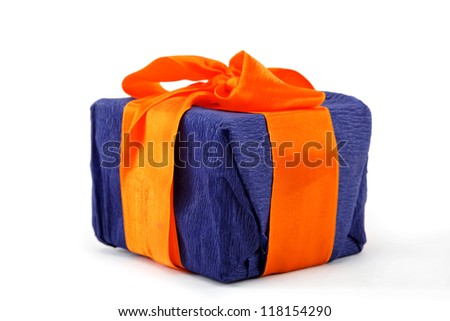 Gift pack on a white background.