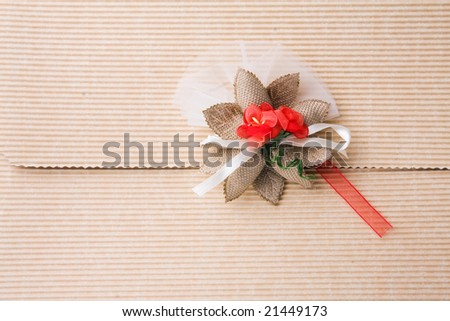 gift packing with flower decoration