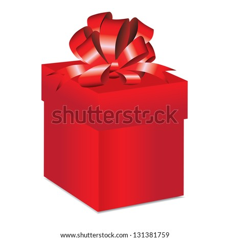 Gift red box vector