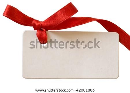 gift tag - stock photo
