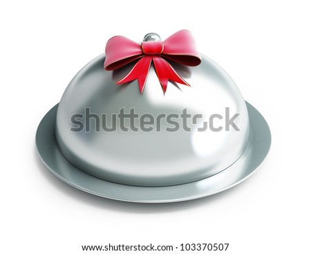 gift tray on a white background