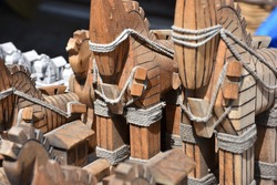 gift trojan horse from wooden