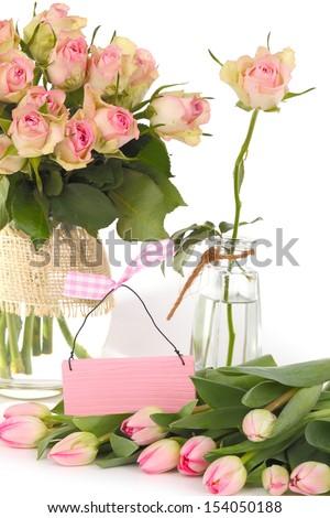 Gift voucher, flowers, birthday surprise