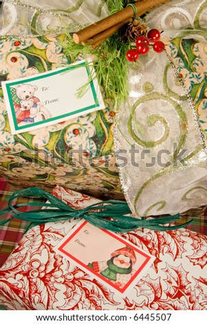 Gifts and presents for the Christmas holiday season