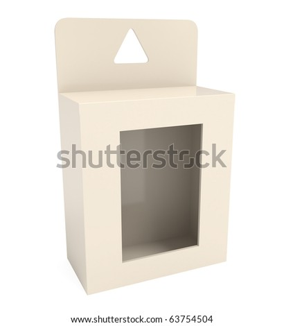 Gifts Box isolated on white - 3d illustration - stock photo