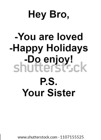 Gifts For Bro From Sister on Birthday Christmas Valentines or Fathers Day - You Are Loved, happy Holidays Greeting Quotes For Him - Customize/Personalize with Photos Images Pictures Names or Text