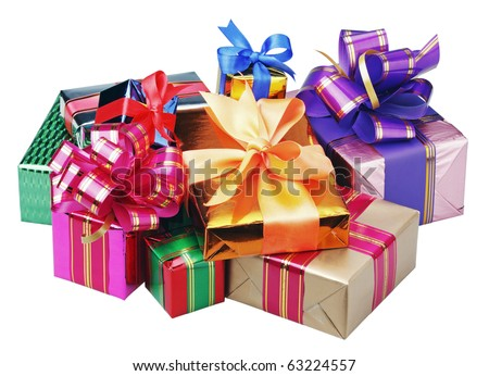 gifts for Christmas and new year on a white background