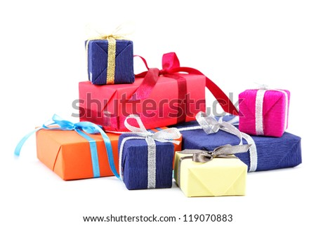 Gifts pack isolated on a white background.