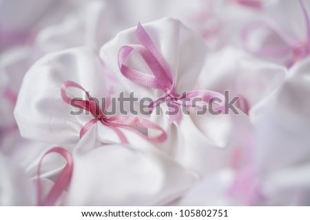 gifts with pink bows