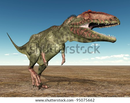 Giganotosaurus Computer generated 3D illustration