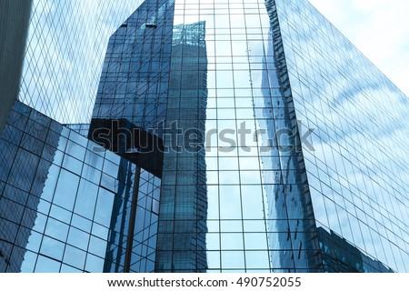 Gigantic skyscrapers from below #490752055