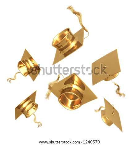 Gilded Graduation 3D  (with clipping path)