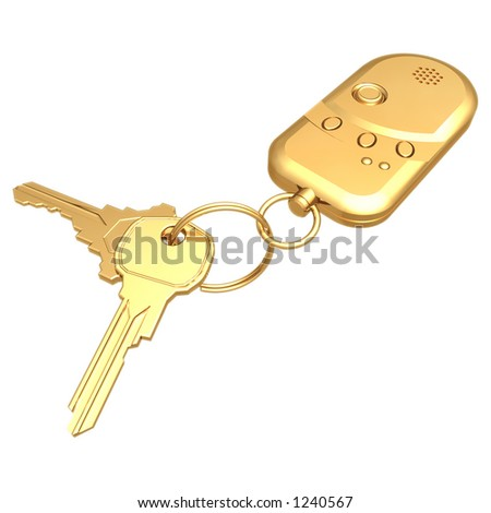 Gilded Key Chain 3D (with clipping path)