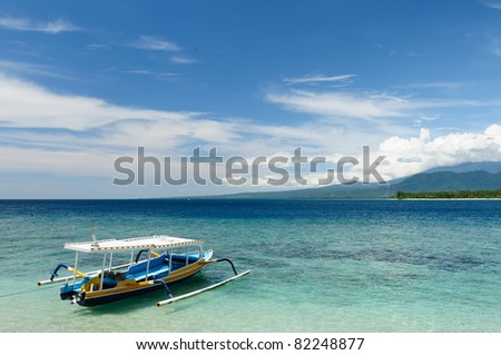 Gili islands near the Bali island. The most populat tourist destination in Indonesia, Nusa tenggara.
