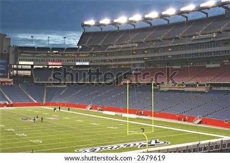 Gillette Stadium at Night