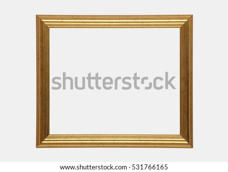 GILT PICTURE FRAME ON WHITE BACKGROUND