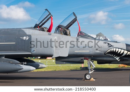 GILZE-RIJEN, NETHERLANDS - JUNE 21, 2014: Turkish F4 phantom at the Royal Dutch Air Force Days 2014. The airbase was in 2 days visited by 245,000 visitors.