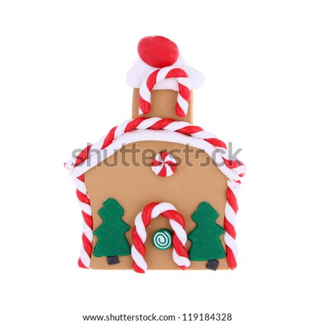 Ginger bread house isolated on white background
