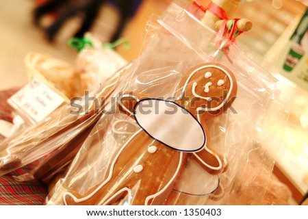 Ginger Bread Man with Oval tag in which you can put your own text/ message.