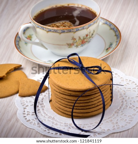 Ginger cookies and coffee