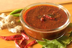 Ginger curry is a dark brown sweet-sour and spicy Keralite curry made of ginger, tamarind, green chillies and jaggery. It is also known as Injipuli or puli inji or inji curry in some parts of Kerala.