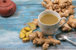 Ginger has a lot of antioxidants. Helps slow down aging and slow down the aging process.