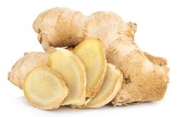 Ginger Isolated on white background Clipping Path.